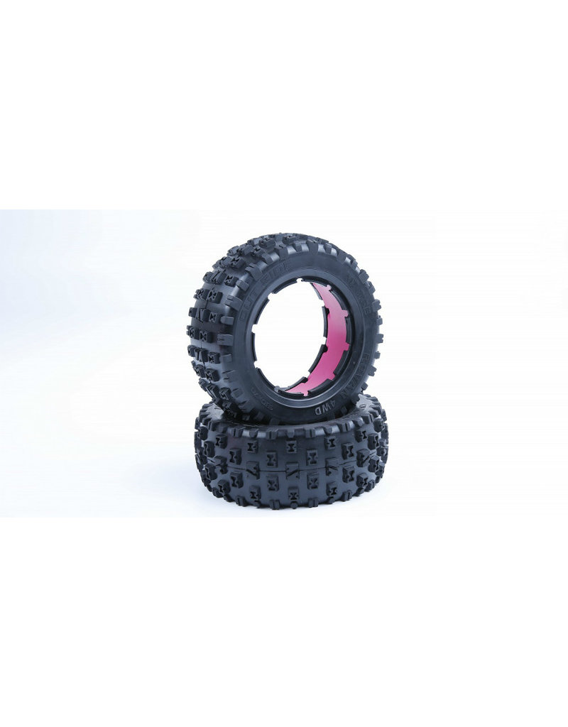 Rovan LT sealed beadlocks Gen. 3 knobby tires with inside cloth and waterproof foam (also fit for BAHA 4WD/SLT)
