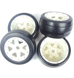 Rovan 5B whole set of slick tyres with nylon hub 4pcs