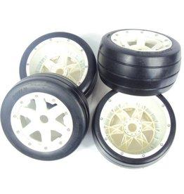Rovan Sports 5B whole set of slick tyres with nylon hub 4pcs