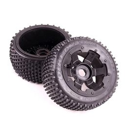 Rovan Small paddle tire set (5B) Dirt Buster 170x 60 2pcs (With and without met wheels)