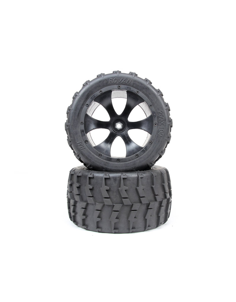 Rovan BM big foot banden set second generation 200x100 (2st.)