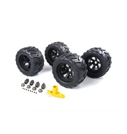 Rovan Big X tire sets (200x120) for FG  including wheel spacers, wheel nuts and a wheel wrench