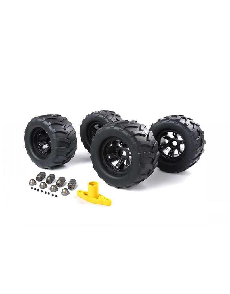 Rovan Big X tire sets (200x120) voor FG  inclusief spoorverbreders, wielmoeren en een wielsleutel