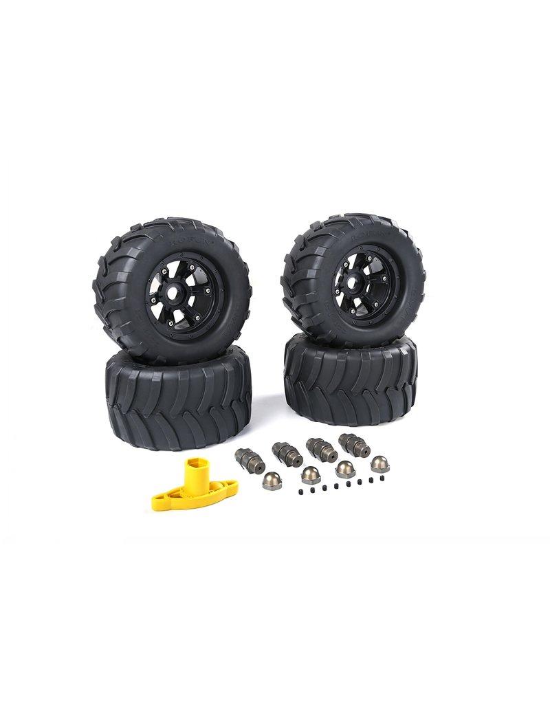 Rovan Sports Big X tire sets (220x120) voor FG  inclusief spoorverbreders, wielmoeren en een wielsleutel