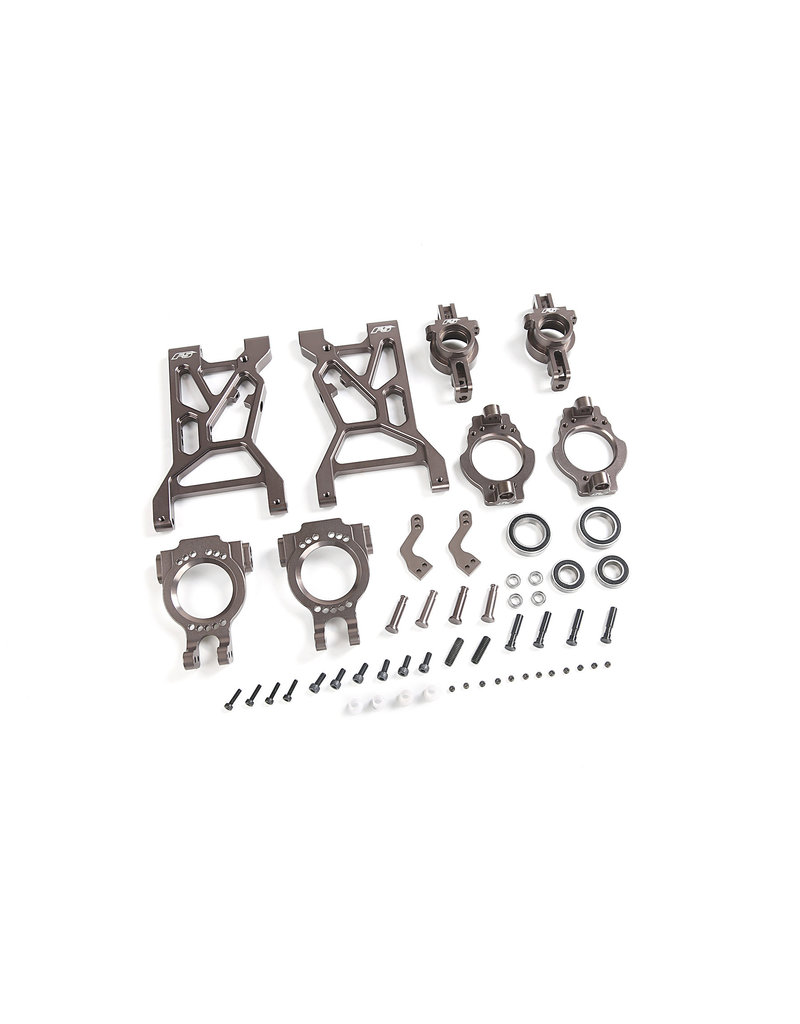 Rovan F5 CNC metal front arms and wheel bearing set