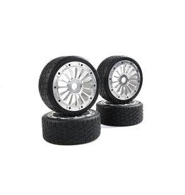 Rovan Sports F5 CNC metal second generation wheel road tire  (2 pcs)