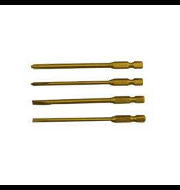 Hobby Detail lange kruis- en platkop opzetstukken set met titanium tip  (4st.)