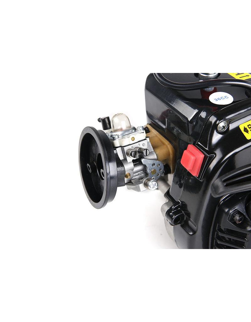Rovan LT 36CC dubbele zuigerveer! 4 bouts easy start motorblok (Walbro 1107 carburateur, NGK bougie)