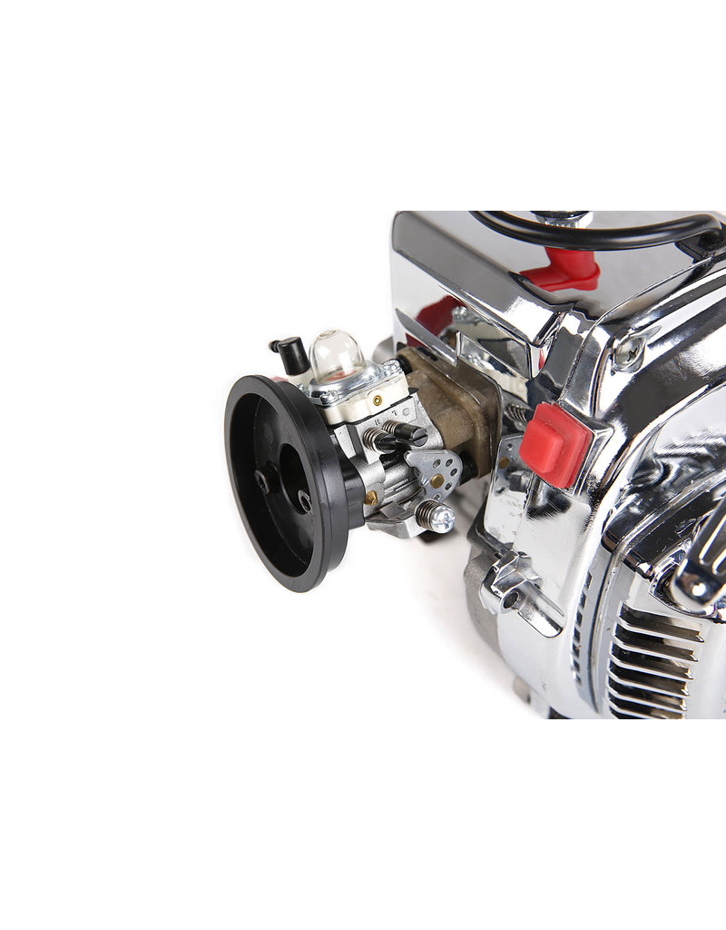 Rovan BAJA 36CC dubbele zuigerveer! zilveren 4 bouts easy start motorblok (Walbro 1107 carburateur, NGK bougie)