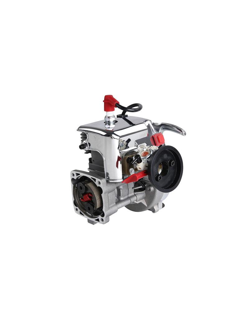 Rovan LT 36CC dubbele zuigerveer! zilveren 4 bouts easy start motorblok (Walbro 1107 carburateur, NGK bougie)