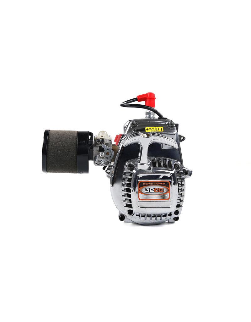 Rovan Sports Rovan 32CC 4 bouts motorblok chrome, easy tot start engine