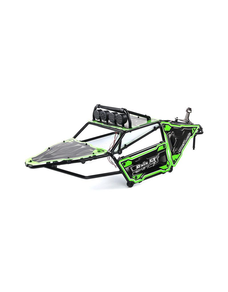 Rovan 5TS metalen rolkooi met panelen + lampen en reservewiel houder