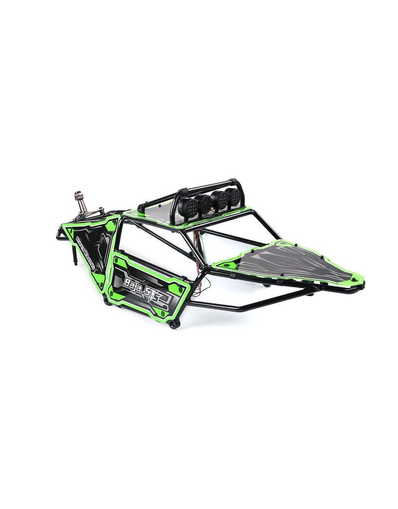 Rovan 5TS Metall Überrollkäfig mit Paneelen + Lampen und Reserveradhalter