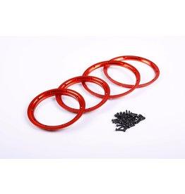Rovan CNC ALLOY wiel beadlock, passen op alle baja en losi (4 st. - voor 2 wielen binnen en buiten)