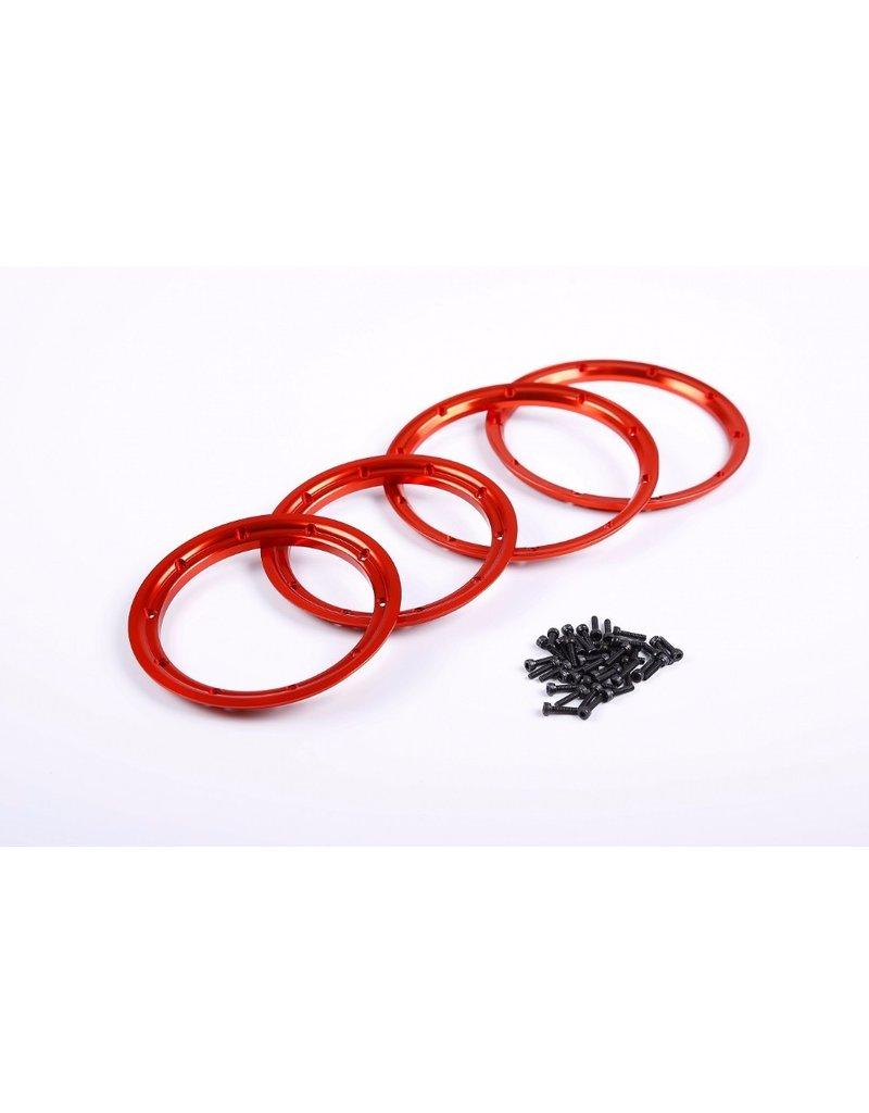 Rovan  CNC ALLOY wiel beadlock, passen op alle baha en losi (4 st. - voor 2 wielen binnen en buiten)