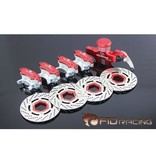 FIDRacing Front/rear hydraulic brake(7075-T6material)