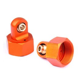 Rovan CNC 6mm metal upper cap of shock (2pc.)