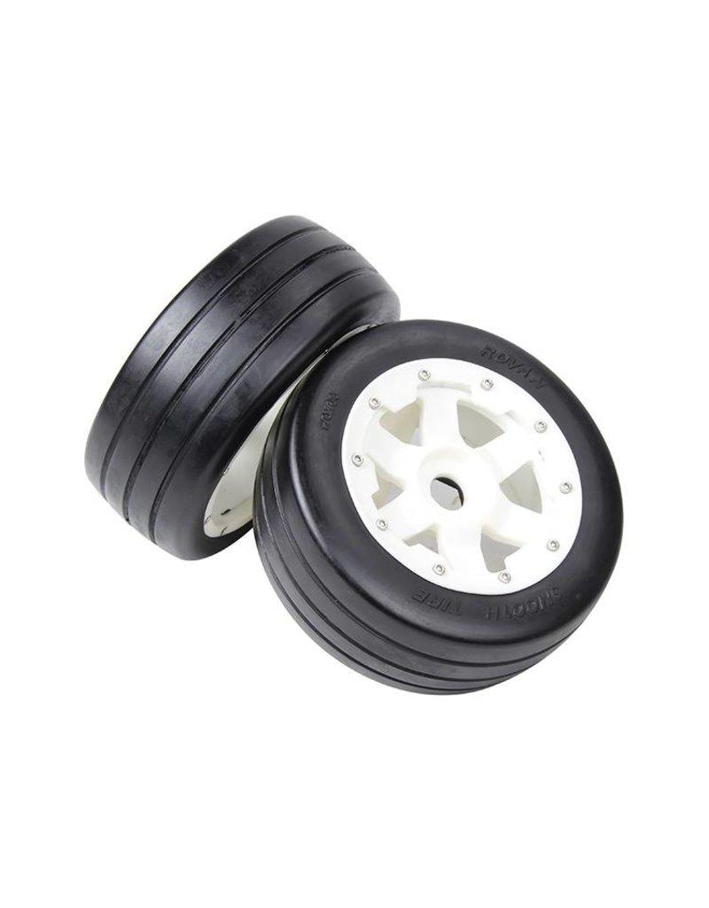Rovan Sports 5B front slick tyres set with nylon hub / smooth tire 170x60 (2pc.)