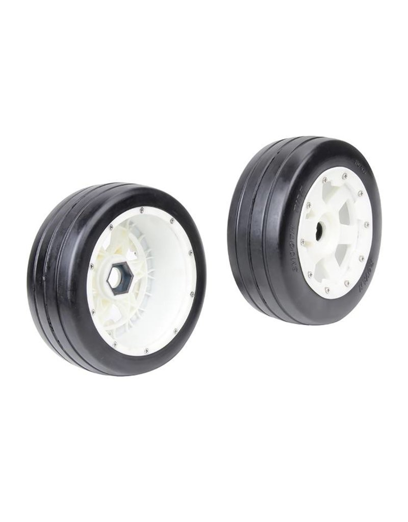 Rovan 5B front slick tyres set with nylon hub / smooth tire 170x60 (2pc.)