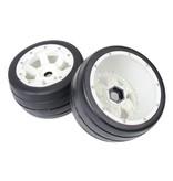 Rovan Sports 5B front slick tyres set with nylon hub / smooth tire 170x80 (2pc)