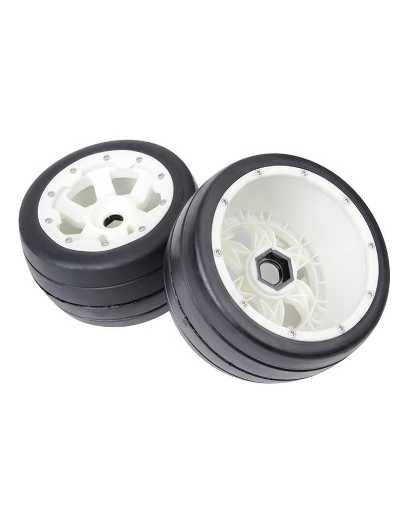 Rovan 5B front slick tyres set with nylon hub / smooth tire 170x80 (2pc)