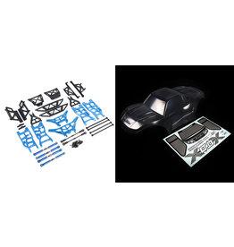 Rovan X-LT conversiekit (transparante body, blauwe metalen onderdelen)