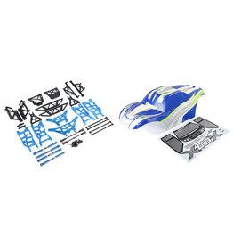 Rovan X-LT ombouwset met blauwe body en blauwe CNC onderdelen