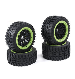 Rovan Baha 2nd gnt All terrain  Wheel Tire sets 4pcs 170x60 +170x80 (4pcs) / Bandenset voor alle terreinen - in diverse kleuren
