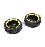 Rovan BAHA 5T / 5SC / 5FT derde generatie straatband voorwielen 180x60 (2 stuks) zwarte velgen met verschillende gekleurde beadlocks