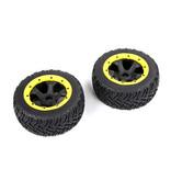 Rovan BAHA 5T / 5SC / 5FT derde generatie straatband achterwiel 180x70 (2 stuks) zwarte velgen met verschillende kleuren beadlocks