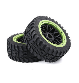Rovan Baha 2nd gnt AT  (all terrain) Wheel Tire Front 170x60 (2pcs) with black rim and several colors beadlocks