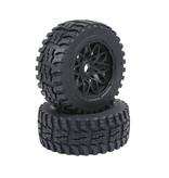 Rovan Baha 2nd gnt AT (all terrain) voorwielen 170x60 (2 stuks) met zwarte velg en verschillende kleuren beadlocks