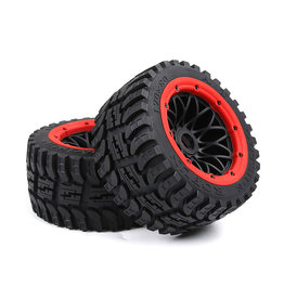 Rovan Baha 2nd gnt AT  (all terrain) Wheel Tire Rear 170x80 (2pcs) with black rim and several colors beadlocks