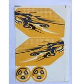 Rovan BAHA 5B achtervleugelset / wing complete vleugel met alle toebehoren om te monteren en met zijstikkers in diverse kleuren