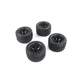 Rovan Torland All-Terrain tire 170x105 4pcs black rims and black or red beadlock