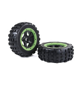 RovanLosi LT 4th gen. wasteland tires 185*70 (black frame) / Knobby tires black rims and with several colors beadlocks