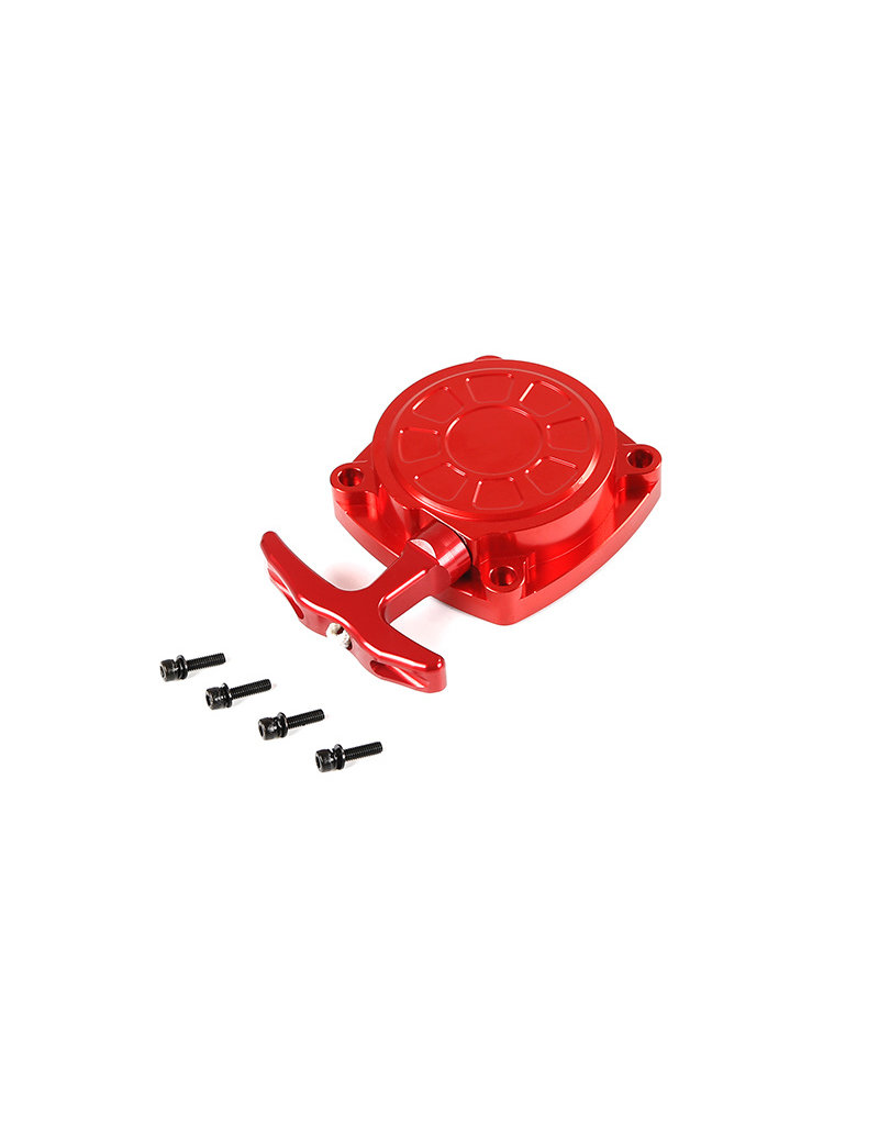 Rovan CNC metal pull starter with CNC turbine in red and silver