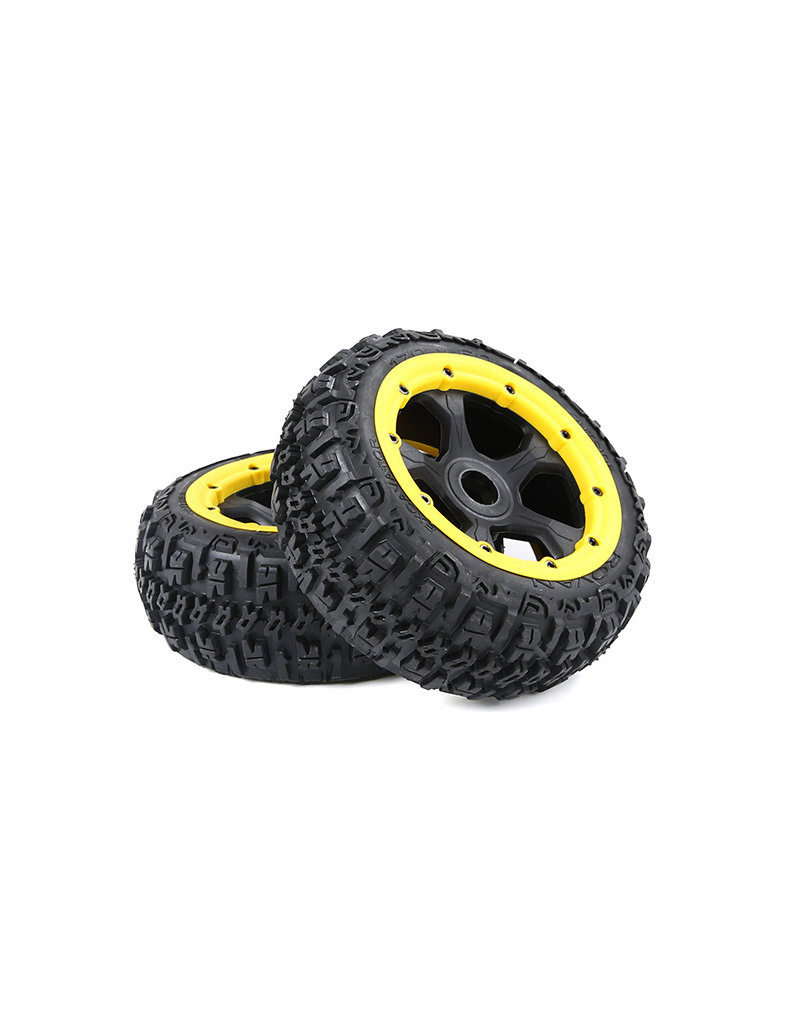 Rovan BAHA 5B 3rd Gen. Wasteland Excavator tire set front 170x60 (2pc) in various colors