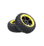 Rovan BAHA 5B 3rd Gen. Wasteland Excavator rear tire set 170x80 (2pc) in various colors