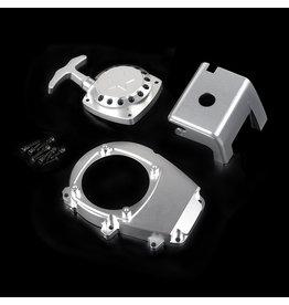 Rovan CNC metalen motor verfraaingsonderdelen, Trekstarter, vliegwielkap en motorblok cover.