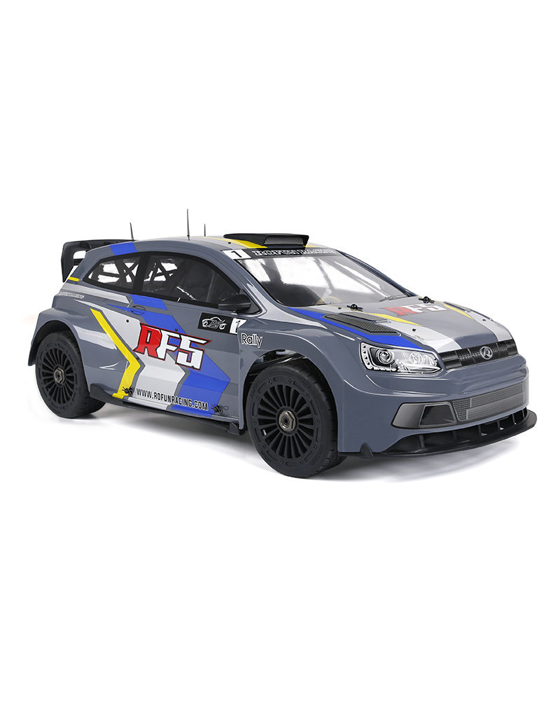 Rovan Rofun RF5 rally model with 36cc engine and colored or transparent body