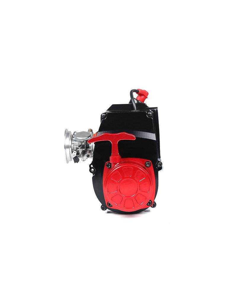 Rovan CNC metalen super makkelijk te starten trekstarter LT 45CC motor (rood) (universele 71CC motor) in zilver en rood