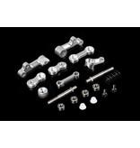 Rovan Sports Baha derde generatie CNC metalen stuurinrichting (in rood en zilver)