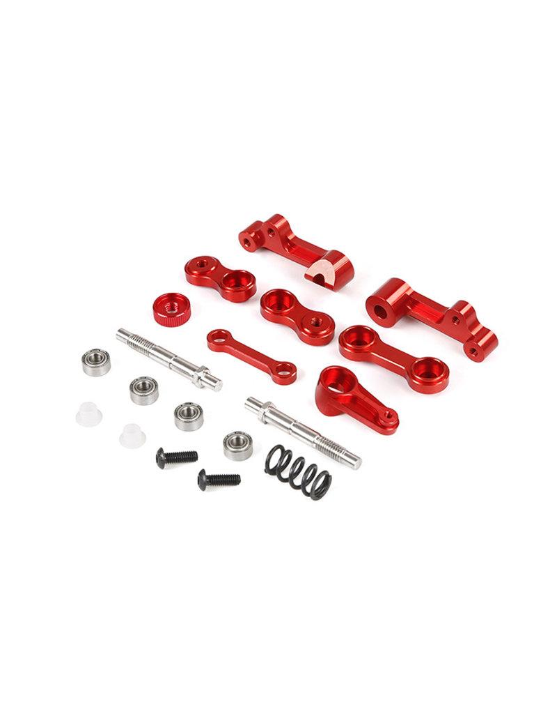 Rovan Baha derde generatie CNC metalen stuurinrichting (in rood en zilver)