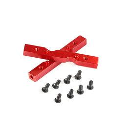 Rovan Torland/XL CNC Metalen zijplaat verbindingspunt (in rood en zilver)