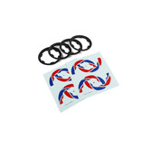 Rovan BAHA 2e gen. beadlocks en beadlock stickers (complete set voor buitenringen van 4 wielen)
