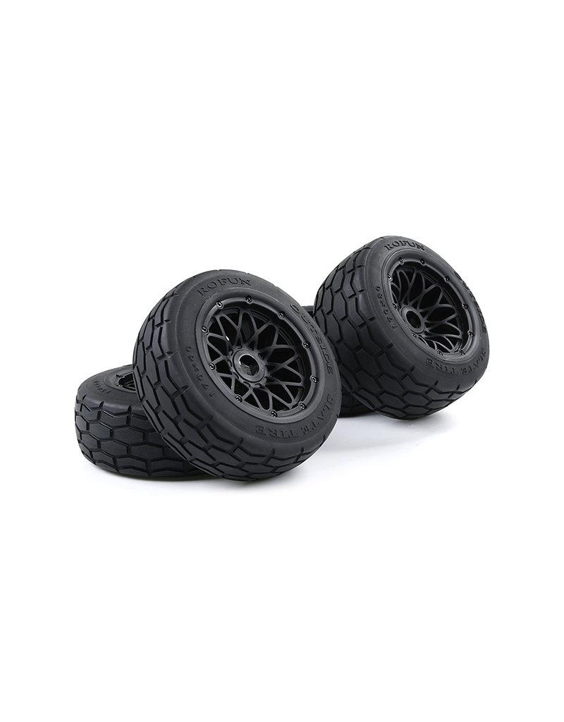 Rovan BAHA 5B Slab stone tire set / straatbanden set 170x60+170x80 (4pcs) met keuze in verschillende beadlock kleuren