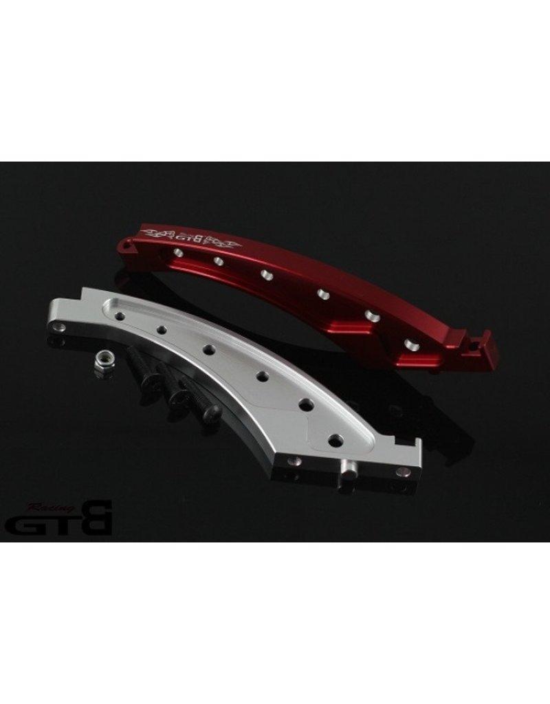 GTBRacing Losi DBXL metalen beugelframe vooraan in de kleur zilver en rood