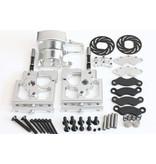 GTBRacing CNC Aluminium Center Diff Differential Mount & Verstelbare Remklauwen voor 1:5 RC Gas Car 1/5 LOSI MTXL in zilver en rood