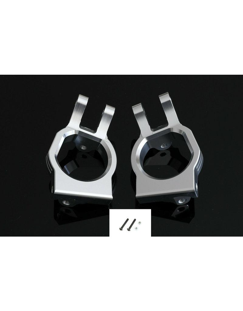 GTBRacing GTB Aluminum Alloy Steering C Hub Seat for RC 1/5 LOSI DBXL MTXL DBXL-E / Castor block Silver and red